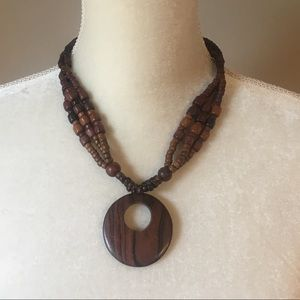 4 for $12: Wooden Bead Necklace